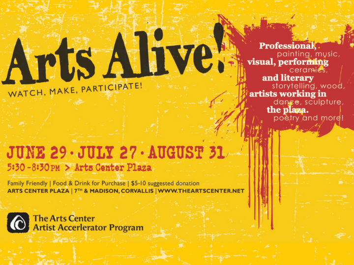 Arts Alive! Summer Events in the Plaza