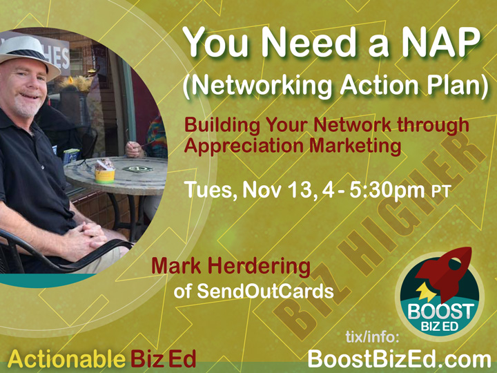 Boost Biz Ed: You need a NAP (Networking Action Plan)